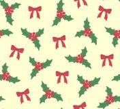Омела картины рождества с вектором смычков Стоковое Изображение RF
