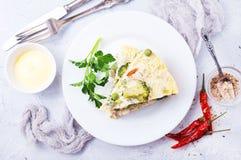 Омлет с овощами Стоковая Фотография