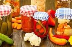 домодельные сохраненные овощи Стоковая Фотография