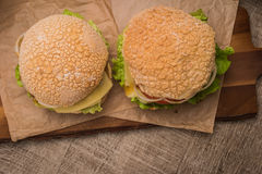 2 домодельных вегетарианских бургера Стоковое Фото