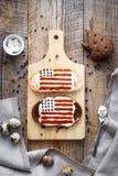2 домодельных сандвича с изображением американского флага Стоковое фото RF