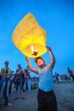 Омск, Россия - 16-ое июня 2012: фестиваль китайского фонарика Стоковое Изображение