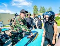 Омск, Россия - 1-ое июля 2015: военная подготовка стоковое изображение rf