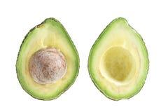 ломтики авокадоа 2 Один кусок с ядром Стоковое Изображение
