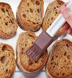 ломтики хлеба toasted Стоковые Изображения RF