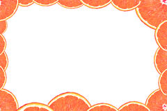 ломтик померанца рамки Стоковая Фотография