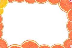 ломтик померанца рамки Стоковые Фотографии RF