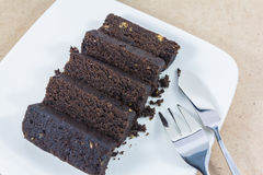 ломтик темноты шоколада торта Стоковое фото RF