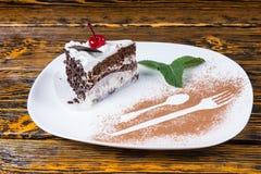 ломтик шоколада торта вкусный стоковые изображения