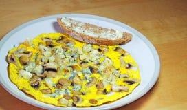 Омлет гриба и сыра Стоковая Фотография