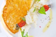 Омлет с высушенными томатами Стоковая Фотография RF