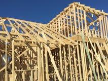 дом конструкции новая Стоковое Изображение