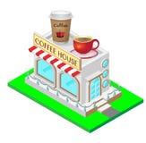 дом кофе капучино barman подготовляет Иллюстрация вектора равновеликая бесплатная иллюстрация