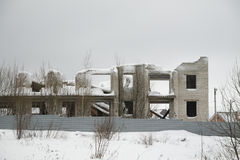 дом незаконченная часть Стоковое фото RF