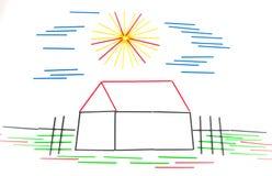 дом дома принципиальной схемы предпосылки изолированная над белизной Стоковые Изображения RF
