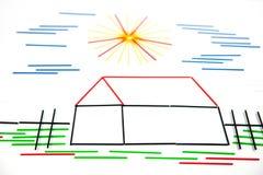 дом дома принципиальной схемы предпосылки изолированная над белизной Стоковое фото RF