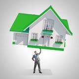 дом доллара принципиальной схемы 100 счетов сделала ипотеку вне Стоковое Изображение