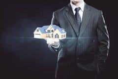 дом доллара принципиальной схемы 100 счетов сделала ипотеку вне стоковые фото