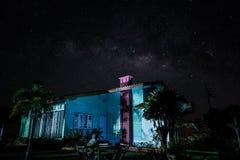 дом под звездами Стоковые Изображения RF
