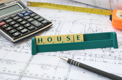 дом принципиальной схемы строения новая Стоковое Фото