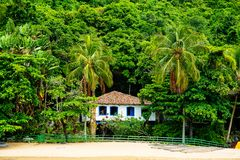 дом пляжа тропическая Стоковая Фотография RF
