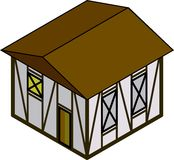 дом равновеликая Стоковые Фотографии RF