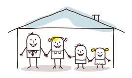 дом свободной руки семьи чертежа бесплатная иллюстрация
