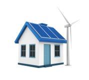 дом энергии зеленая Стоковые Изображения