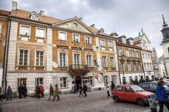 дом XVIII-столетия, место рождения Кюри Мари Стоковые Фото