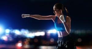 Она боец Мультимедиа Стоковое Изображение RF