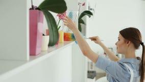 Она очищает пыль в гостинице акции видеоматериалы