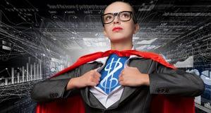 Она супер финансист стоковые изображения rf