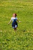 Она счастлива в природе Стоковое Изображение RF
