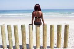 Она любит море Стоковая Фотография