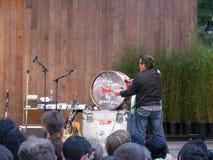 Они могли быть барабанчиками челки Джона Flansburgh члена Giants Стоковые Изображения RF