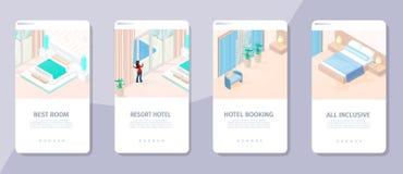 Онлайн записывая самая лучшая иллюстрация Hotet курорта комнаты иллюстрация штока