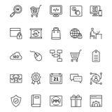 Онлайн изолированные маркетингом значки вектора установили которые могут быть очень легко редактировать или доработанный Онлайн и бесплатная иллюстрация