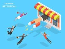Онлайн иллюстрация вектора удерживания клиента магазина Стоковые Фотографии RF