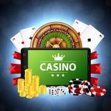 Онлайн концепция казино бесплатная иллюстрация