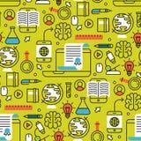 Онлайн уча магазин тренировки предпосылки картины плоского образования дизайна дистантного безшовный уча знание исследования Стоковые Фото