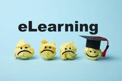 Онлайн учить, концепция образования интернета Технология цифров webinar ELearning стоковое изображение rf