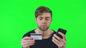 Онлайн Shoping с карточками банка сток-видео