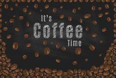 Оно время кофе ` s иллюстрация штока