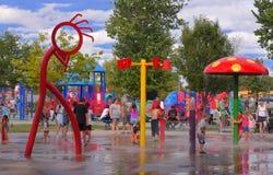 Оно даже получает горячий в Канаде в августе! стоковые фотографии rf