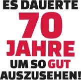 Оно приняло мне 70 лет для того чтобы посмотреть этого хорошего - семидесятый день рождения - немца Стоковая Фотография