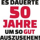 Оно приняло мне 50 лет для того чтобы посмотреть этого хорошего - пятидесятый день рождения - немца Стоковые Фотографии RF