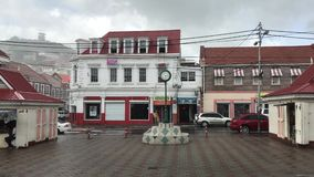 Оно ` s идя дождь в St. George, Гренаде сток-видео