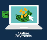 Онлайн значки оплат Стоковое Изображение RF