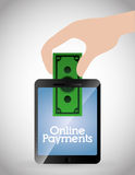 Онлайн значки оплат Стоковые Изображения RF