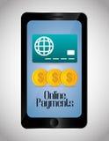 Онлайн значки оплат Стоковые Изображения